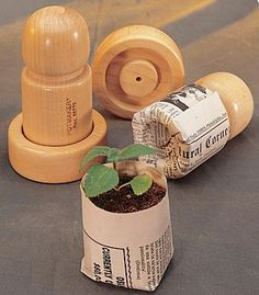 DIY newspaper seedling pots. #gardening