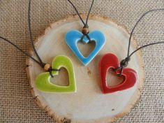 Items similar to Ceramic Heart Keychain, clay heart pottery heart keychain gift tag ceramic heart ornament stoneware handmade ceramics and pottery on Etsy Ceramic Pendant, Ceramic Jewelry, Ceramic Clay, Polymer Clay Jewelry, Ceramic Necklace, Ceramics Projects, Polymer Clay Projects, Diy Clay, Clay Crafts