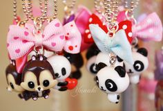 Kawaii Panda & Squirrel necklaces   More on my fan page : http://www.facebook.com/yunaki.crea