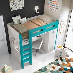 Mobilia Living 7 Palmas added a new photo. Room Decor Bedroom, Kids Bedroom, Corner Desk, Table, Furniture, Design, Home Decor, Log Projects, Bed With Desk Underneath