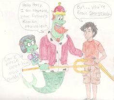 Percy Jackson/ SpongeBob  humor