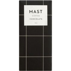 Mast Brothers Chocolate Coffee chocolate bar ($11) ❤ liked on Polyvore featuring fillers, black fillers, food, decor, home and backgrounds