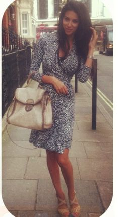 London shopping. Wrap dress