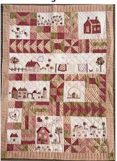 Marie Suarez and her novelties in patchwork - La Casina Roja House Quilt Block, House Quilts, Colchas Quilt, Quilt Blocks, Quilting, Patchwork Patterns, Quilt Patterns, Colchas Country, Marie Suarez
