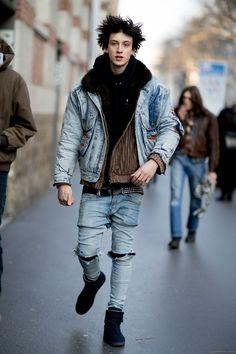 Paris Men's Fashion Week Street Style Day 4 Fall 2017