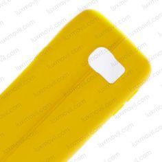 Funda compatible Samsung Galaxy S7 Gel simil cuero Amarillo