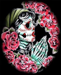 Dia de los Muertos Art Print by Carissa Rose by NeverDieArt