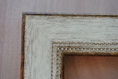 """white frames distressed with silver 