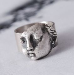 NO ANGEL  silver ring  pesonalized  angel  gift  by OYRZANOWSKA