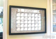 Do it yourself dry erase wall calendar... such a cute idea!!