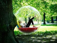Imagine reading outside in a Cocoon - there is no fear of the rain. Cocoon bubble is a perfect reading nook .