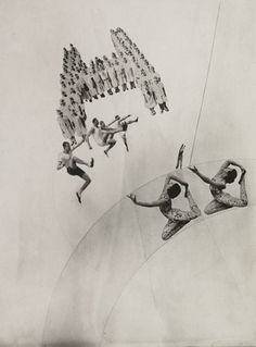 László Moholy-Nagy (American, born Hungary. 1895–1946) Dream of Boarding School Girls, 1924, Gelatin silver print (photomontage) moma