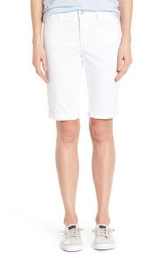 NYDJ 'Brielle' Roll Cuff Stretch Twill Shorts (Regular & Petite) available at #Nordstrom