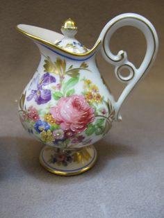 Antique Limoges Porcelain Cream Jug.... just sooooooooo gorgous, handle so unique!!!!