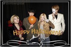 Happy Halloween from Girls' Generation Sunny n HyoYeon with EXO-M Tao n Kris