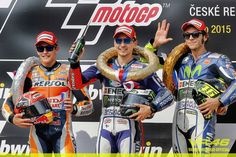 Podium Brno 2015 1st place - Lorenzo 2nd place - Marquez 3rd place - Rossi
