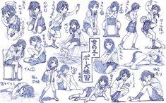 女の子制服ポーズ練習その4 / さきの新月 さんのイラスト - ニコニコ静画 (イラスト)