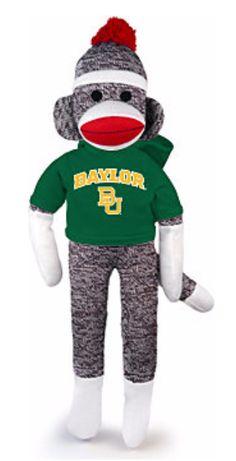 Stop it. A Baylor sock monkey?! Too cute!