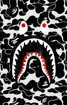 shark black bape camo