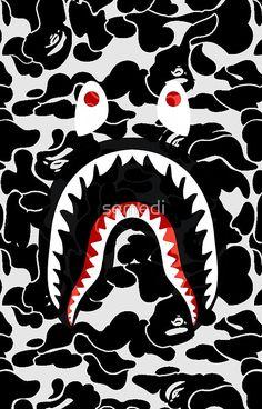 shark black bape camo