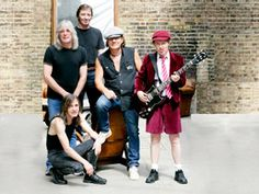 """AC/DC- They have the second best selling Album of all time in """"Back in Black. Often gets criticized for sticking to their style. Its amazing how they got bigger after Bon Scott died in Brian Johnson came in and ever since they have been awesome! Bon Scott, Angus Young, Brian Johnson, Axl Rose, Rock And Roll Bands, Rock N Roll, Music Is Life, My Music, Music Stuff"""