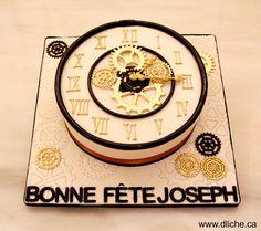 Gâteau horloge - clock cake