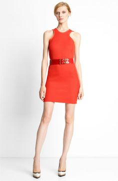 Lanvin Perforated Techno Knit Dress available at #Nordstrom