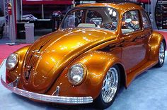 Modified Copper Metallic with Flames VW Beetle 1969