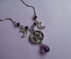 pastel+goth+pentagram+and+moon+necklace+nu+goth+by+OfStarsAndWine,+€14.00