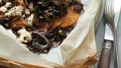 Sweet Potato Feta and Shiitake Packets