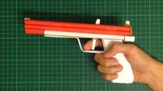 Paper Rubber Band Gun Semi-auto Original design.