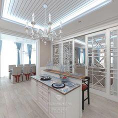 Кухня-гостиная в светлых тонах. Фото 2015 http://www.line-mg.ru/dizayn-kuhni-foto-2015-sovremennye-idei