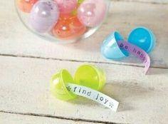 Plastic eggs idea