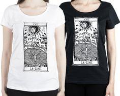 T-shirt La Lune Tarot de Marseille Tarocchi LA LUNA di DSHIRT14