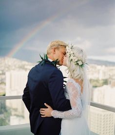 A sweet moment caught by @rebeccaarthurs for a special penthouse wedding at #TrumpWaikiki! #wedding #weddingwednesday #sayido #destinationwedding #hawaiiwedding #waikiki #waikikibeach #rainbow #hawaii