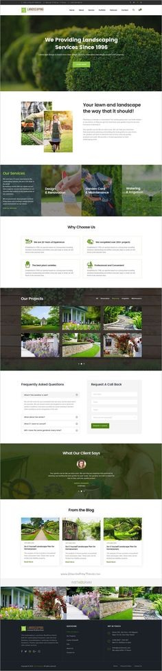 Landscaping is an elegant #PSD template built for #landscaping companies, #Lawn Services Business, Groundskeepers, Landscape Architects, Gardeners, Florists, Agriculture and companies website download now➩ https://themeforest.net/item/landscaping-gardening-lawn-landscape-psd-template/19110701?ref=Datasata