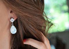 Teardrop earrings.