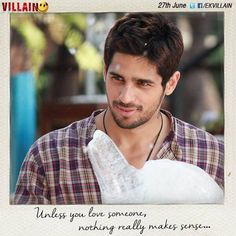 Two hearts two souls one love one beat Bollywood Quotes, Bollywood Actors, Mistake Quotes, Ek Villain, Film Quotes, Quotes Images, Movie Lines, True Words, Cute Guys