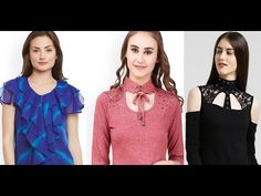 Ladies Tops Designs | Latest Stylish Tops with Shop link - YouTube Stylish Tops, Trendy Tops, Anarkali, Lehenga, Latest Top Designs, Link Youtube, Latest Kurti, Ladies Tops, Ethnic Dress