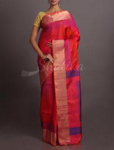 Parvati Glinting Ruby Affluent #WeddingSilkSaree