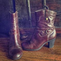 Aerosoles Leather Ankle Boots Very gently broken in. Burgundy/brown leather comfort boots by Aerosoles. AEROSOLES Shoes Ankle Boots & Booties