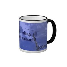 Amateur Radio QST and Callsign Mug by Florals by Fred #zazzle #gift #photogift