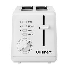 $36.99 Cuisinart® White Compact Cool-Touch 2-Slice Toaster