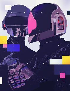 Daft Punk by Bram Vanhaeren