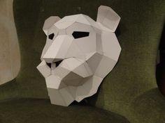 Druckbare Maske wie man die Maske Löwe Löwe von GreenMindedWolf