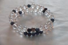2X 8MM,Natural Apatite and Clear Quartz Gemstone Buddha Bracelet Healing Bracelet-Stretch Bracelet,Yoga Bracelet by HealingAuras on Etsy
