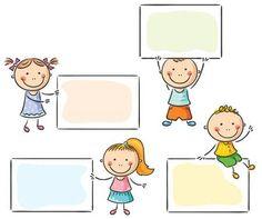Kids With Blank Signs Ilustración vectorial en stock 216848020 : Shutterstock Kids Vector, Free Vector Art, Kids School Organization, School Border, Crying Emoji, Boarder Designs, Photo Frame Design, Blank Sign, Funny Girls