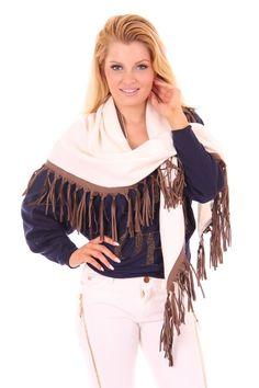 Sjaal van Jacky Luxury met franjes