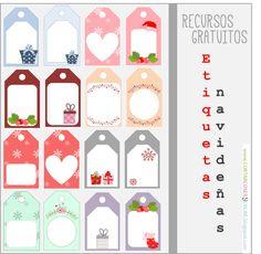 etiquetas Navidad regalos descargables gratis