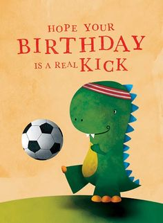 soccer birthday pictures | Sincerely Scent - Scented Greeting Card - Birthday Soccer